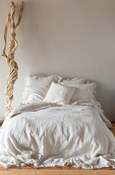 Linen bedding-lovely neutral textures