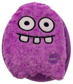 "Purple Rocket Head Pillow Color LED Light Up Flash Plush 10"" Microbeads Decor"
