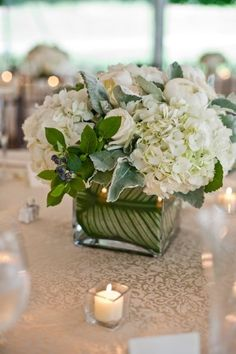 Gatsby-Inspired Connecticut Wedding by Joshua Zuckerman Photography White Centerpiece, Party Centerpieces, Floral Centerpieces, Floral Arrangements, Centrepiece Ideas, Table Arrangements, Reception Decorations, Floral Wedding, Wedding Bouquets