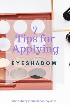 7 Tips For Applying Eyeshadow: Life changing Applying Eyeshadow, Eyeshadow Tips, Blending Eyeshadow, How To Apply Eyeshadow, Eyeshadows, Learn Makeup, Diy Makeup, Makeup Tips, Makeup Tutorials