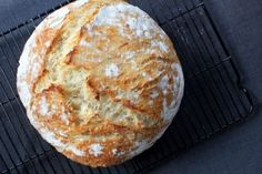 The trick to perfect rustic loaves: fermented 12-18 hours, no kneading, baked in a dutch oven.