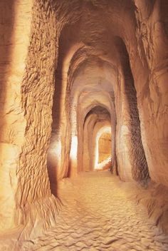 Piusa Sand Caves, Estonia (former mine for glass-sand, now inhabited by a large bat colony.)