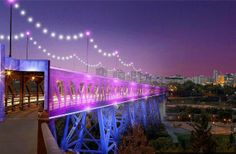 On #CanadaDay #yeg will be treated to an incredible show as roughly 50,000 LED lights illuminate the High Level Bridge.