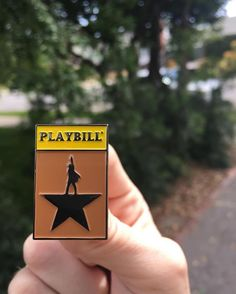 """Repost @budzpinz Introducing our new """"Hamilton Playbill"""" Pin! Don't throw away your shot and snag this pin through the link in our bio! (Posted by https://bbllowwnn.com/) Tap the photo for purchase info. Follow @bbllowwnn on Instagram for the best pins & patches!"""