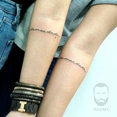 Tattoo feita por João Victor Martins. #tattoos #caligrafia #irmandade