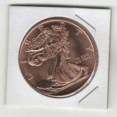 Free: 1 oz Walking Liberty Coin Copper Round .999 Bullion FREE Shipping! - Coins - Listia.com Auctions for Free Stuff