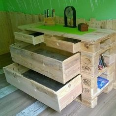 multi functional pallet drawer
