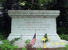 James Buchanan's Grave Site, Lancaster, Pennsylvania