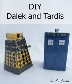 Printable TARDIS and Dalek Doctor Who Paper Crafts