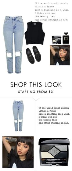 """""""black"""" by trillest-t ❤ liked on Polyvore featuring Topshop, Puma and Christian Dior"""