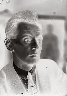 Egon Schiele negative, c. 1918 by Johannes Fische