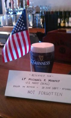 """""""I just walked into a local pub (PUB 25, Newtown, CT) and asked to speak with the Owner/Manager. I asked if I could leave a cold one on the bar for Michael all day . I showed him the """"Reserved"""" sign I made and explained I wanted to leave him sufficient funds to buy a random person a Guinness every hour today, and that when the surprised patron asks him """"Who is this from?"""" he should reply..."""" Click on image to continue reading - MilitaryAvenue.com"""