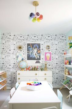 So, I have finally wrapped up this craft room! I've been working on it slowly over the summer, and am so happy to have it all together. (pictured above: Icons C