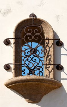 Wrought iron window gate...     ᘡղbᘠ exactly what i m wanting 4 all east & south windows of home