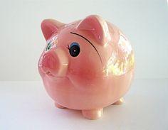 vintage piggy banks | vintage pink piggy bank | Flickr - Photo Sharing! Pink Piggy Bank, Vintage Pink, Piggy Banks, Collections, Money Bank