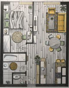Apartment Furniture Layout, Apartment Design, Architecture Model Making, Architecture Design, Dream House Interior, Home Interior Design, Small House Plans, House Floor Plans, Studio Apartment Floor Plans