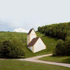 Timm Ulrichs, 'Versunkenes Dorf',2004-06,concrete, plaster, paint,1.82 x 962 x 1.69cm.