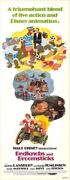 Bedknobs and Broomsticks (1971) I remember this as being so strange, but thoroughly enjoying it!