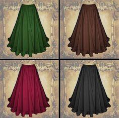 Mittelalter Gothic Larp Rock Magd braun rot schwarz grün 36 38 40 42 44 46 Neu in Kleidung & Accessoires, Kostüme & Verkleidungen, Kostüme   eBay