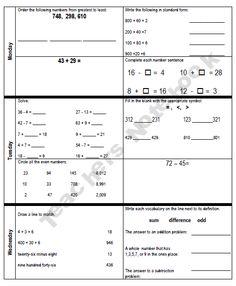 AmazingIn4thGrade Shop - | Teachers Notebook @ http://www.teachersnotebook.com/product/Amazing%20in%204th%20Grade/third-grade-daily-math-review
