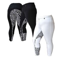 Zebra Breeches by Fuller Fillies - Plus Size Riding Wear