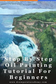 Step By Step Oil Painting Tutorial For Beginners - Bali Painting - Finished Painting Painting Tutorial, Bali Painting, Learn To Paint, Landscape Paintings, Oil Painting Landscape, Oil Painting Tutorial, Art Academy, Seascape Paintings, Landscape Art