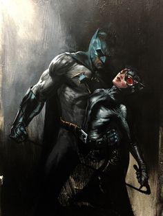 Batman and Catwoman Gabriele Dell'otto Batman And Catwoman, Batman Art, Batman And Superman, Batman Robin, Spiderman Marvel, Dc Comics Art, Marvel Dc Comics, Comic Books Art, Comic Art