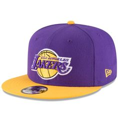 Men s Los Angeles Lakers New Era Purple Gold Two-Tone 9FIFTY Adjustable Hat 3b6db1018a8