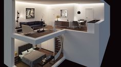 Dream House Plans, Modern House Plans, Small House Plans, Tiny Living Rooms, Lofts, Modern Home Interior Design, Loft House, Sweet Home Alabama, Tiny House Design