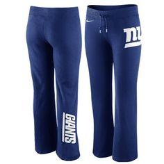 Nike New York Giants Women s Tailgater Fleece Pants - Royal Blue e2bada56a