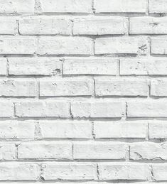 Papel pintado imitación ladrillo blanco estilo industrial - 40811