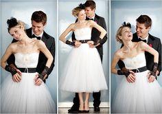 Dolce Gabbana Wedding Dress- classic and punk black and white
