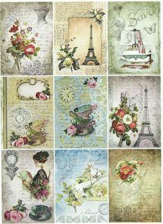 Ricepaper/Decoupage paper,Scrapbooking Sheets /Craft Paper Parisian Life | eBay