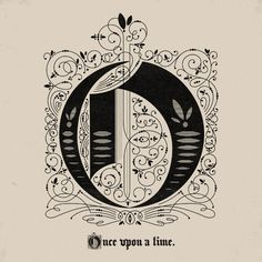 Once upon a time, type, typography, drew melton