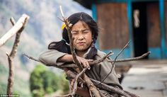A child collecting fire wood for her family.Describing it as one of the best experiences ...