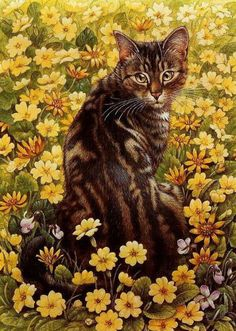 Portrait of cat. Lesley Anne Ivory                  A Cat's Example  Lesley Anne Ivory