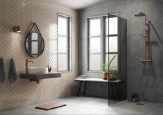 Damixa taps and shower systems to come - - Half Bathroom Decor, Bathroom Goals, Bathroom Interior, Bathroom Black, Industrial Bathroom, Shower Systems, Furniture Styles, Bathroom Renovations, Taps