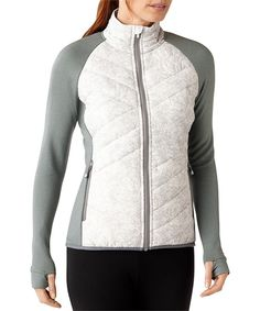 Love this SmartWool White Wool-Blend Corbet 120 Jacket - Women by SmartWool on #zulily! #zulilyfinds