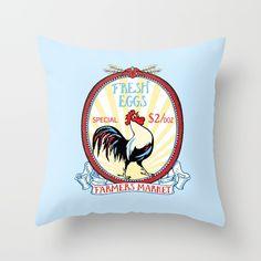 Vintage rooster illustration, free range, hen eggs, chicken poster.