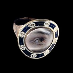 British Museum Gold mourning ring with a painted eye England, after AD 1794 A mourning ring for Mary Dean