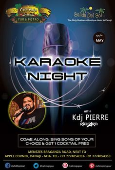 Let's not make weekdays all that boring! Come alive and grab the mic at Café Mojo Goa and sing along with KdjPierre at the Karaoke Night this Thursday. #Party #Goa.
