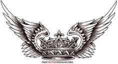 Wings crown tattoo tattoos tattoo designs ideas männer männer ideen old school quotes sketches Tattoo Sketches, Tattoo Drawings, Body Art Tattoos, Hand Tattoos, Sleeve Tattoos, Crown Tattoo Men, Crown Tattoo Design, Wing Tattoo Designs, Hals Tattoo Mann