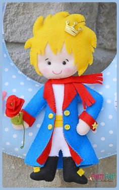 Pp - mon site Felt Diy, Felt Crafts, Diy And Crafts, Crafts For Kids, Arts And Crafts, Little Prince Party, The Little Prince, Felt Fabric, Fabric Dolls