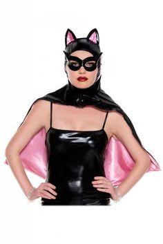 41f3692432 Music Legs Wet Look Hooded Cat Cape w/ Mask Produktivitás, Kütyü, Művészek,
