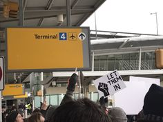 Women's March ‏@womensmarch  8h8 hours ago More  Terminal 4 JFK arrivals #NoMuslimBanJFK #RefugeesWelcome #NoBanNoWall 2017