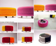 tyre made coffee tables