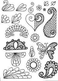 piping in royal icing patterns pictures - Google Search