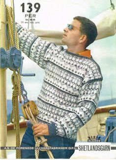 DFU Per 139 Norwegian Knitting, Fingerless Gloves, Arm Warmers, Knitting Patterns, Men Sweater, Blazer, North Sea, Sweaters, Wave