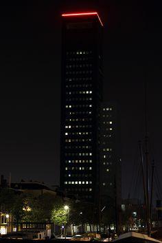 Achmea-Tower in Leeuwarden at night