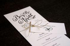Bryllupsinvitationer fra mishu studio.  Wedding stationery by mishu studio.